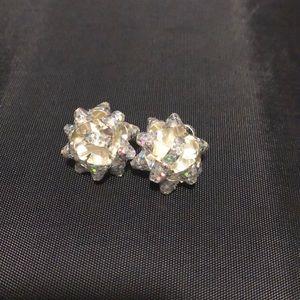 Large Christmas bow earrings